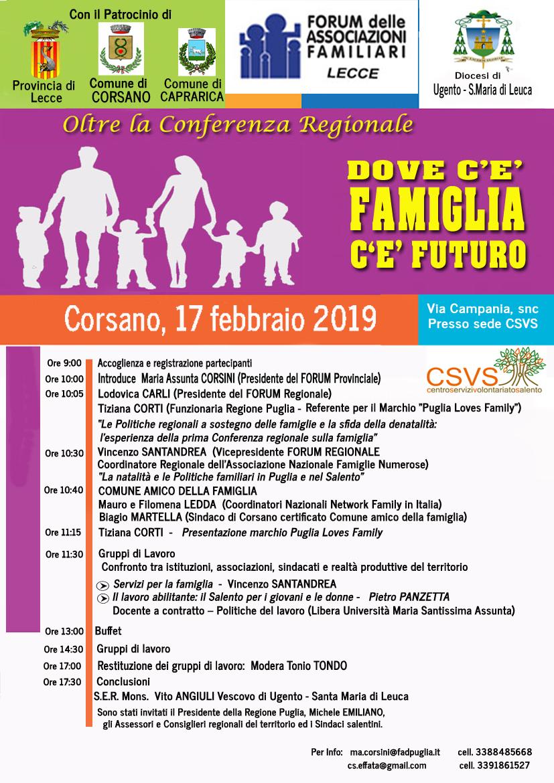 20ec045667 All'indomani della Conferenza regionale sulla Famiglia del novembre scorso  ed in vista del redigendo Piano regionale di Politiche Familiari ...